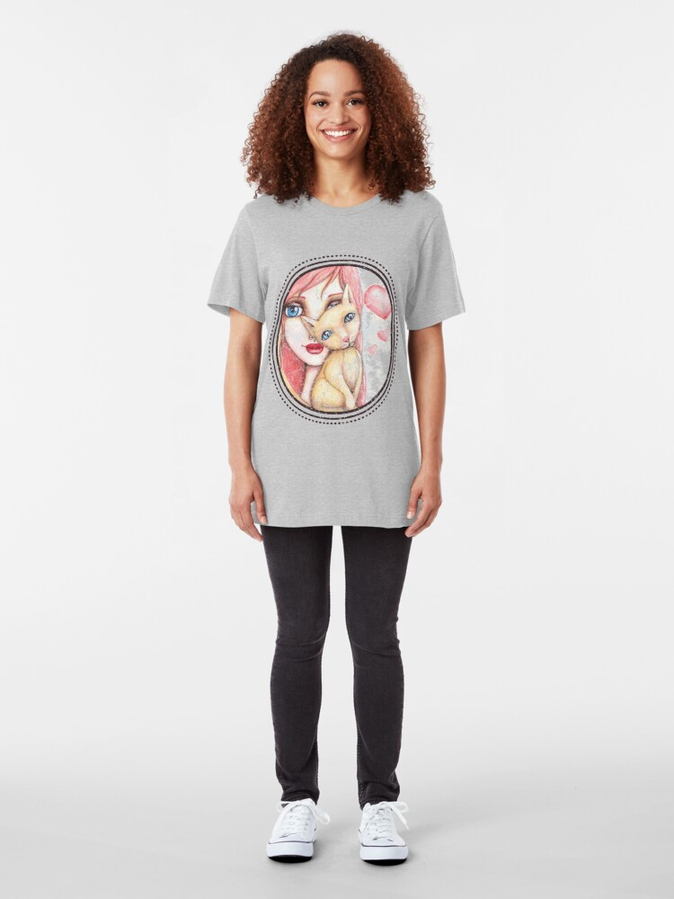 Alternate view of Kitten Selfie Slim Fit T-Shirt