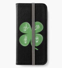 ASL LOVE Four Leaf Clover American Sign Language iPhone Wallet/Case/Skin