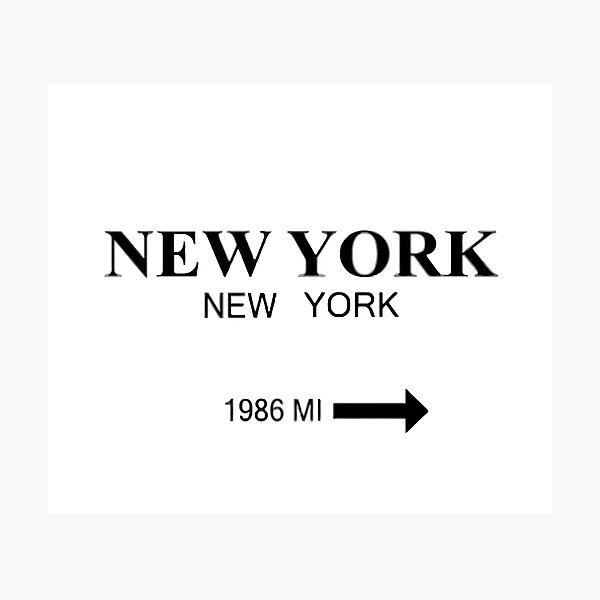 Nueva York Lámina fotográfica