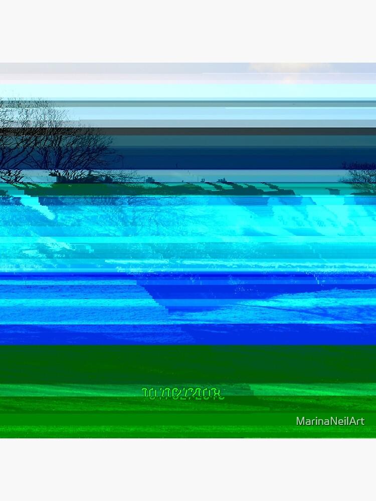 Bright Glitch Field by MarinaNeilArt