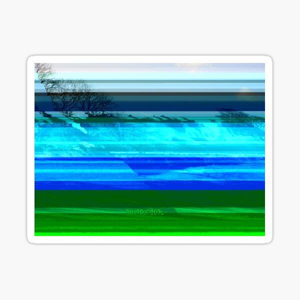 Bright Glitch Field Sticker