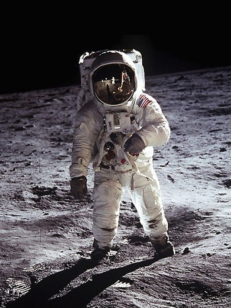 Buzz Aldrin On The Moon by historicalstuff
