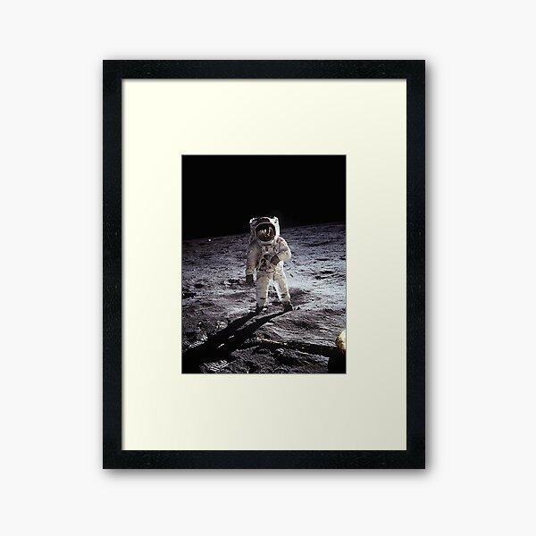Buzz Aldrin On The Moon Framed Art Print