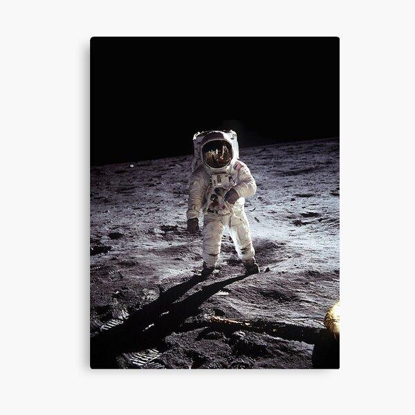 Buzz Aldrin On The Moon Canvas Print