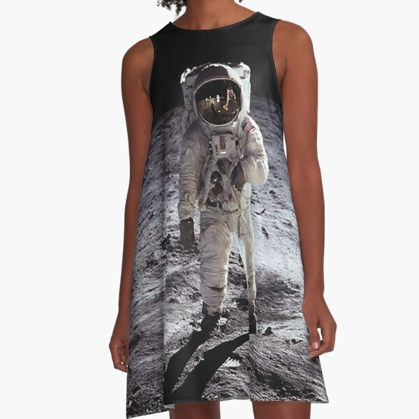 Buzz Aldrin On The Moon A-Line Dress
