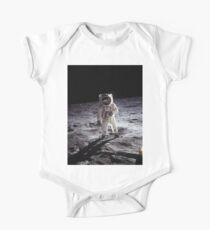 Body de manga corta para bebé Buzz Aldrin En La Luna