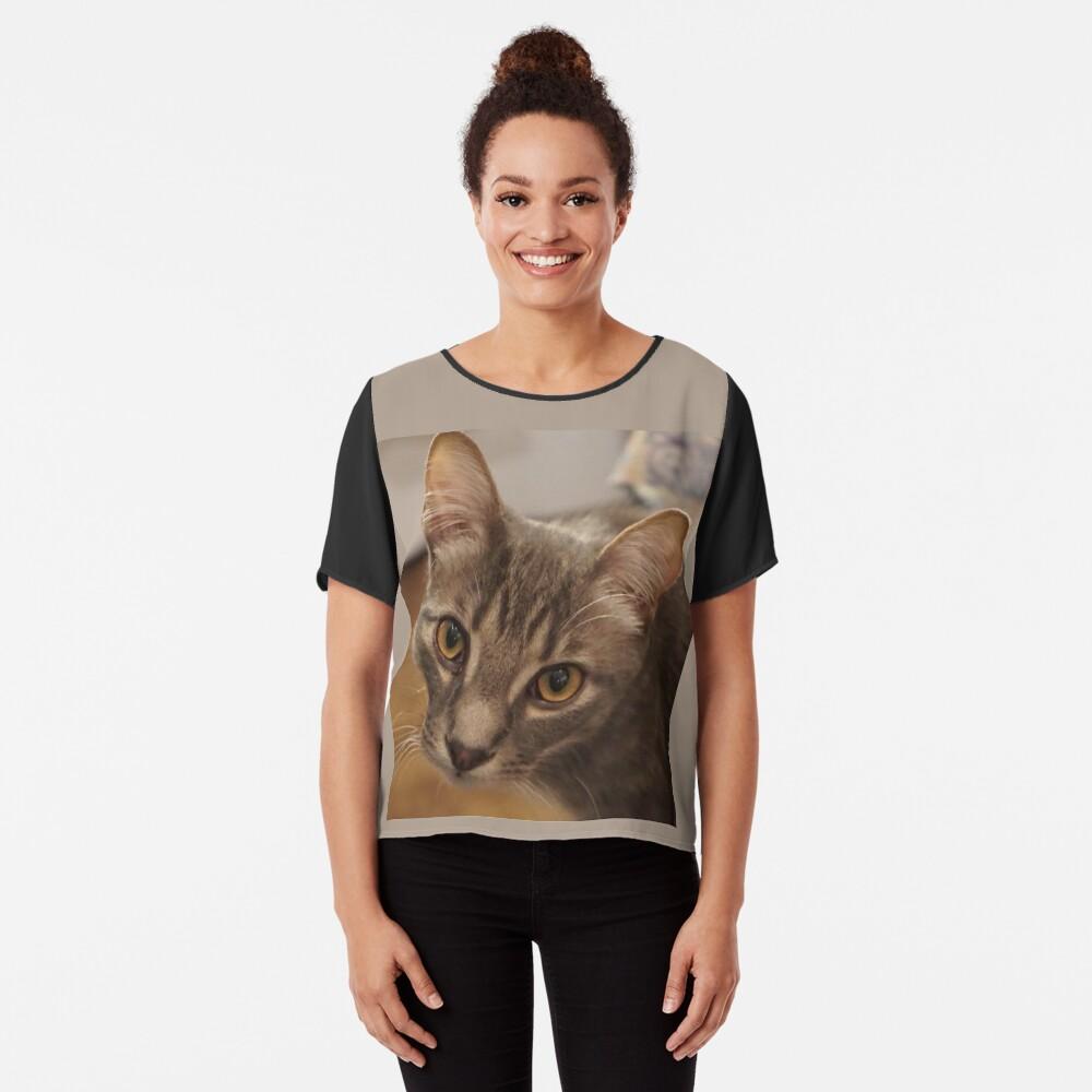 Top mousseline «Ozzy le chaton»