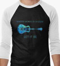 Whisper words of wisdom let it be shirt guitar hip Men's Baseball ¾ T-Shirt