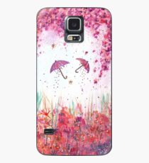 Umbrellas watercolor Painting Case/Skin for Samsung Galaxy