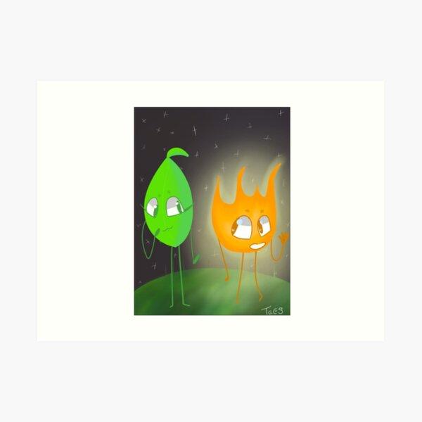 Firey y Leafy - Bfb Lámina artística