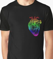 Rainbow Heart Graphic T-Shirt
