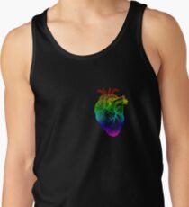 Regenbogen Herz Tanktop für Männer