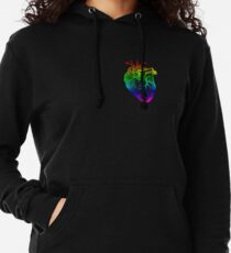 Rainbow Heart Lightweight Hoodie