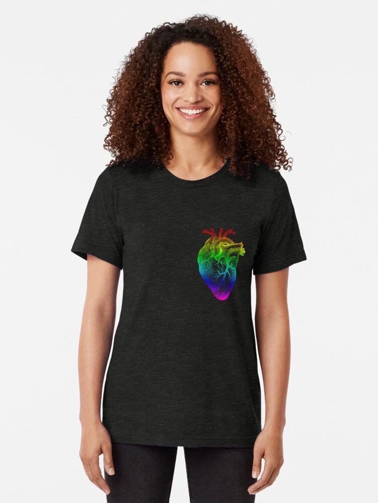 Alternative Ansicht von Regenbogen Herz Vintage T-Shirt