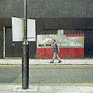 man walking by meanderthal
