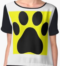 #CatPaw #Cat #Paw #halloween #HalloweenCostume #design #danger #illustration #bulb #equipment #shape #symbol #art #safety #food #colorimage #nopeople #warningsymbol #warningsign #retrostyle Chiffon Top