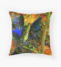 Butterfly luncheon Throw Pillow