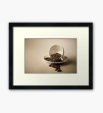 Cup and Coffee Beans Framed Print