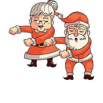 Santa Claus Mr and Mrs Claus Flossing Christmas by ZippyThread