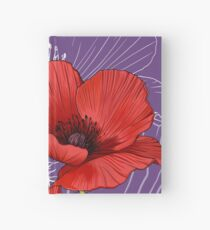 Red Poppy - Birth Month Flower for August Hardcover Journal