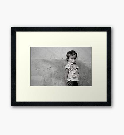 Little Face in Tansen Framed Print