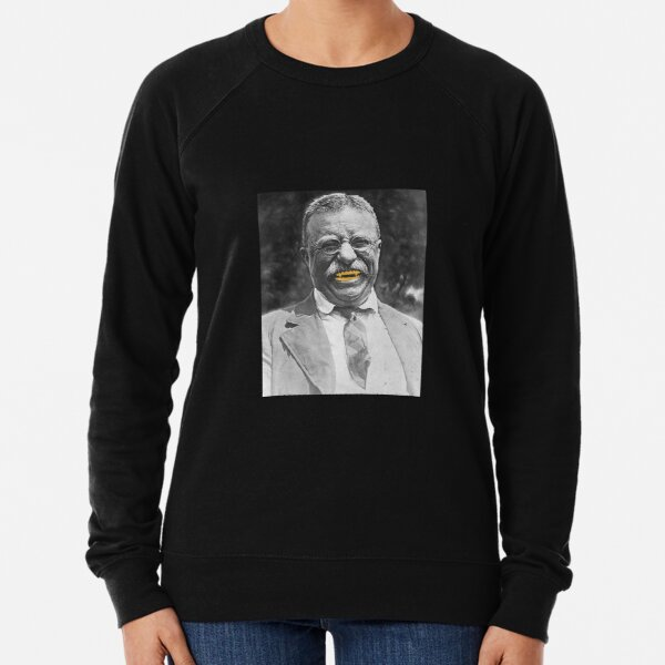 Bull Moose Gold Tooth Theodore Roosevelt Graphic Tee Lightweight Sweatshirt