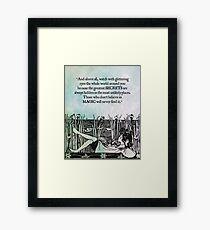Roald Dahl - Watch with Glittering Eyes Framed Print