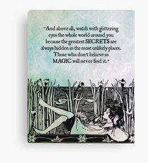 Roald Dahl - Watch with Glittering Eyes Canvas Print