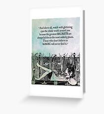 Roald Dahl - Watch with Glittering Eyes Greeting Card