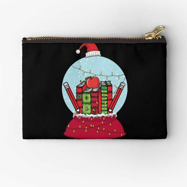 Teacher Appreciation Christmas Snow Globe Gift For First grade Teachers Zipper Pouch