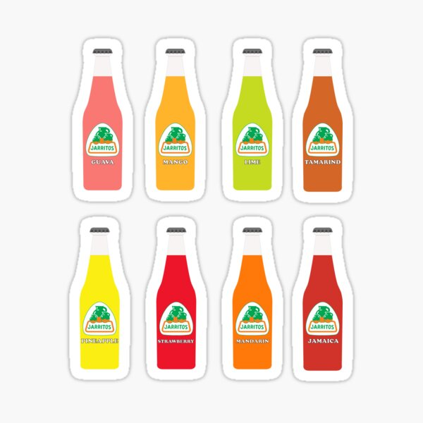 Jarritos the all natural fruit flavored sodas  Sticker