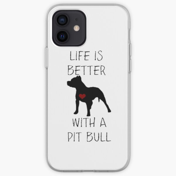 La vie est meilleure avec un pit-bull Coque souple iPhone