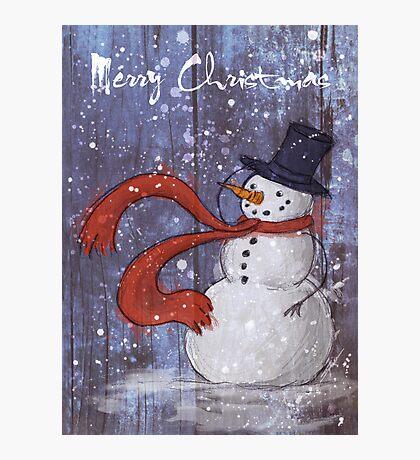 Snowy Christmas Card Photographic Print