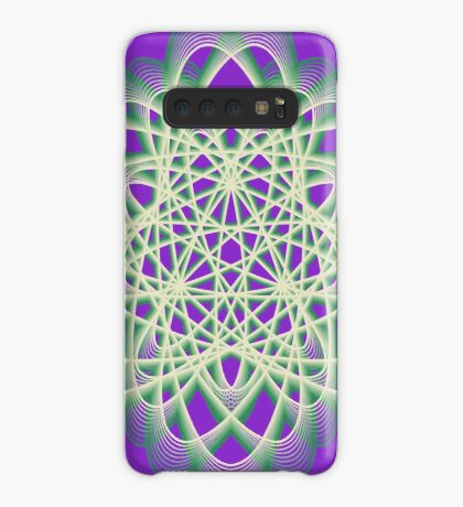 Abstract Sea Green Spiral Lines Case/Skin for Samsung Galaxy