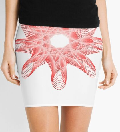 Spirals with Red and White Mini Skirt
