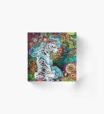 Bloque acrílico El tigre blanco