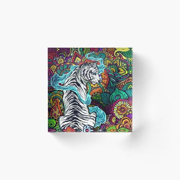 The White Tiger Acrylic Block