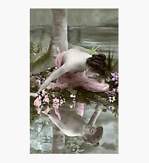 Vintage *Reflecting Beauty* Photographic Print