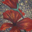 Red Hibiscus with Bud by Cherie Roe Dirksen