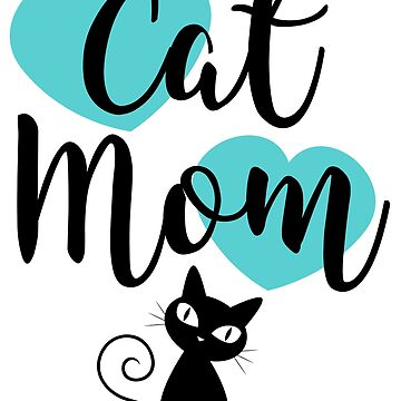 Cat Mom - Green Hearts by catloversaus