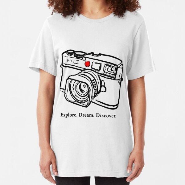 Leica M9 Leuchtpunkt-Entfernungsmesserkamera Slim Fit T-Shirt