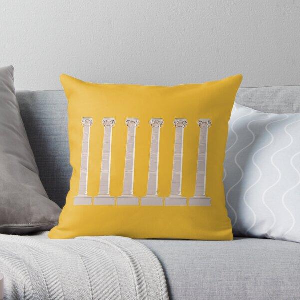 Mizzou Columns Gold Throw Pillow