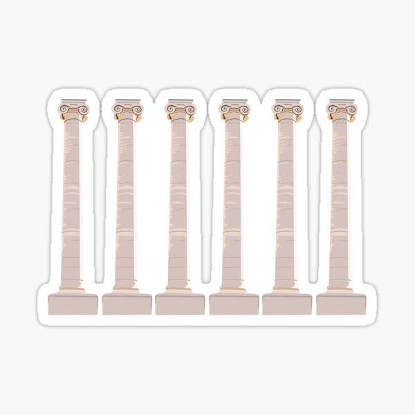 Mizzou Columns Gold Sticker