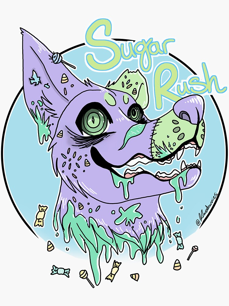 Pastel Gore Dog by klovesbunnies