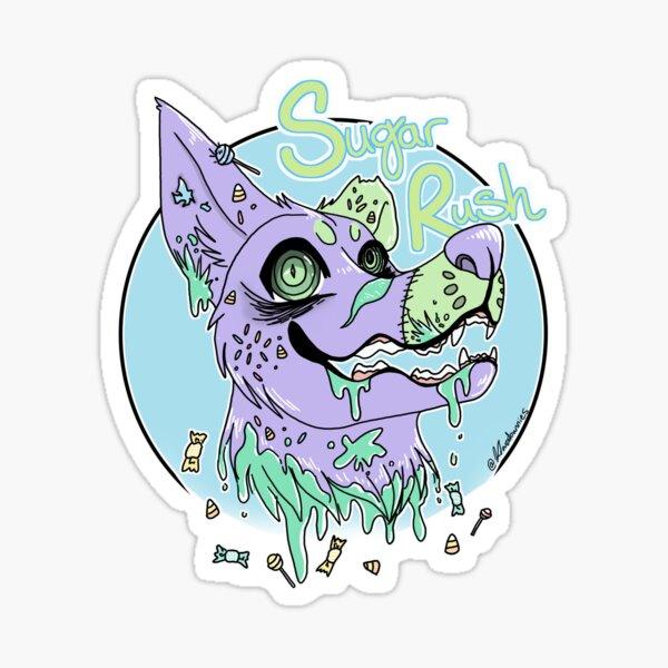 Pastel Gore Dog Sticker