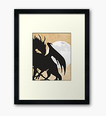 Tolkien - Smaug - Dragon against the Moon Framed Print