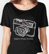 Leica M9 red dot rangefinder camera T-Shirt Women's Relaxed Fit T-Shirt