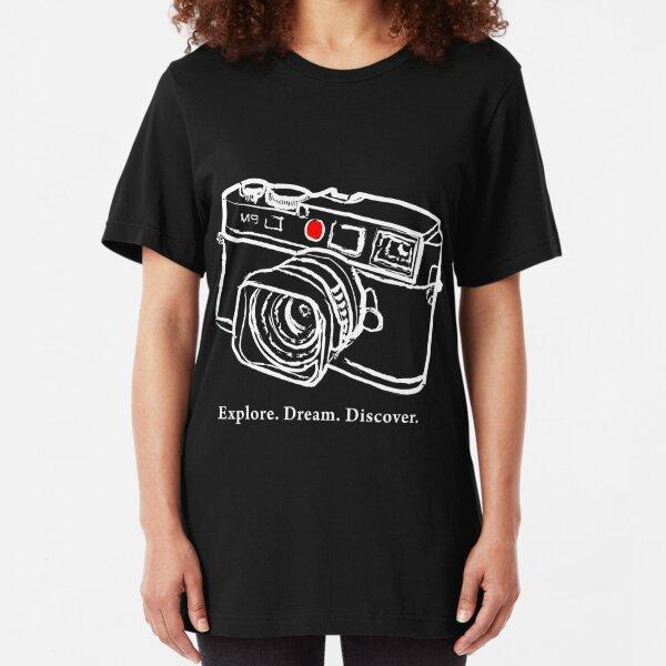 Leica M9 Red Dot Entfernungsmesser Kamera T-Shirt Slim Fit T-Shirt