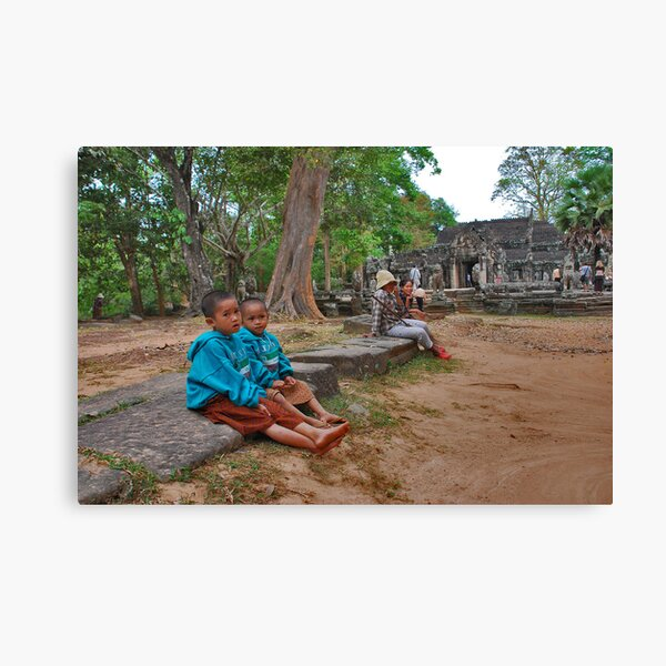 Children of Banteay Kdei Canvas Print