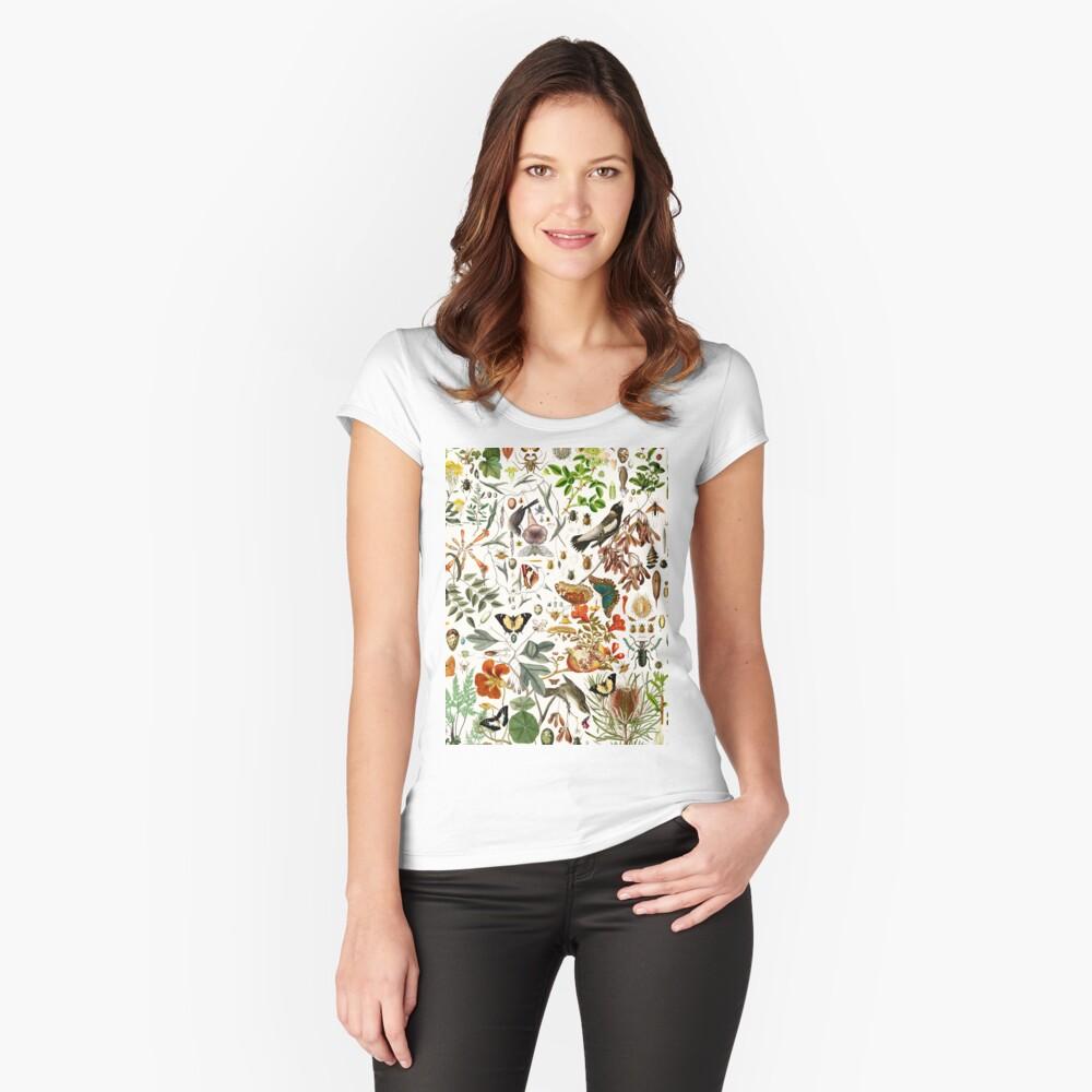 Biologia 101 Camiseta entallada de cuello ancho